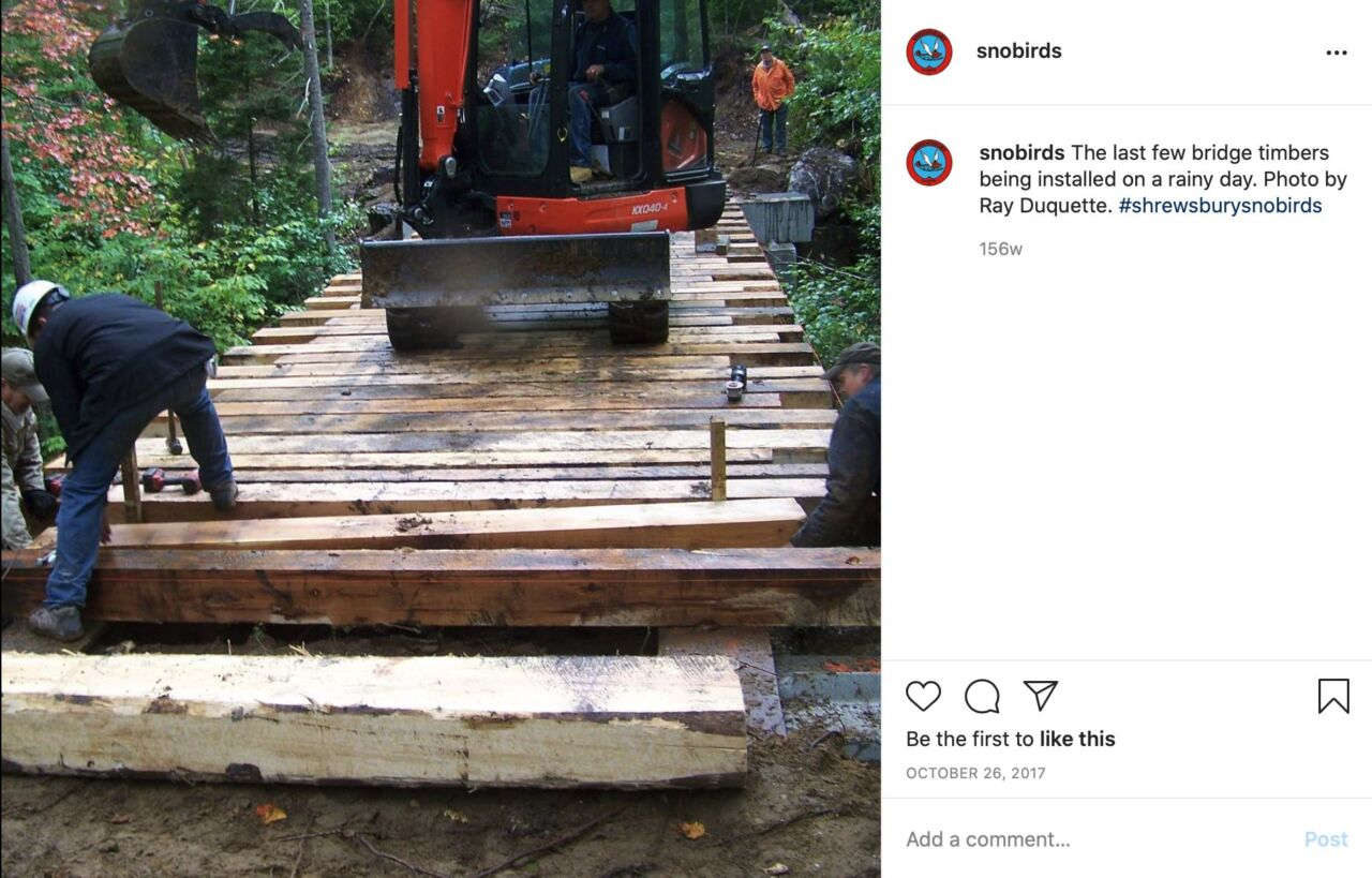 Sample Instagram photo of bridge building